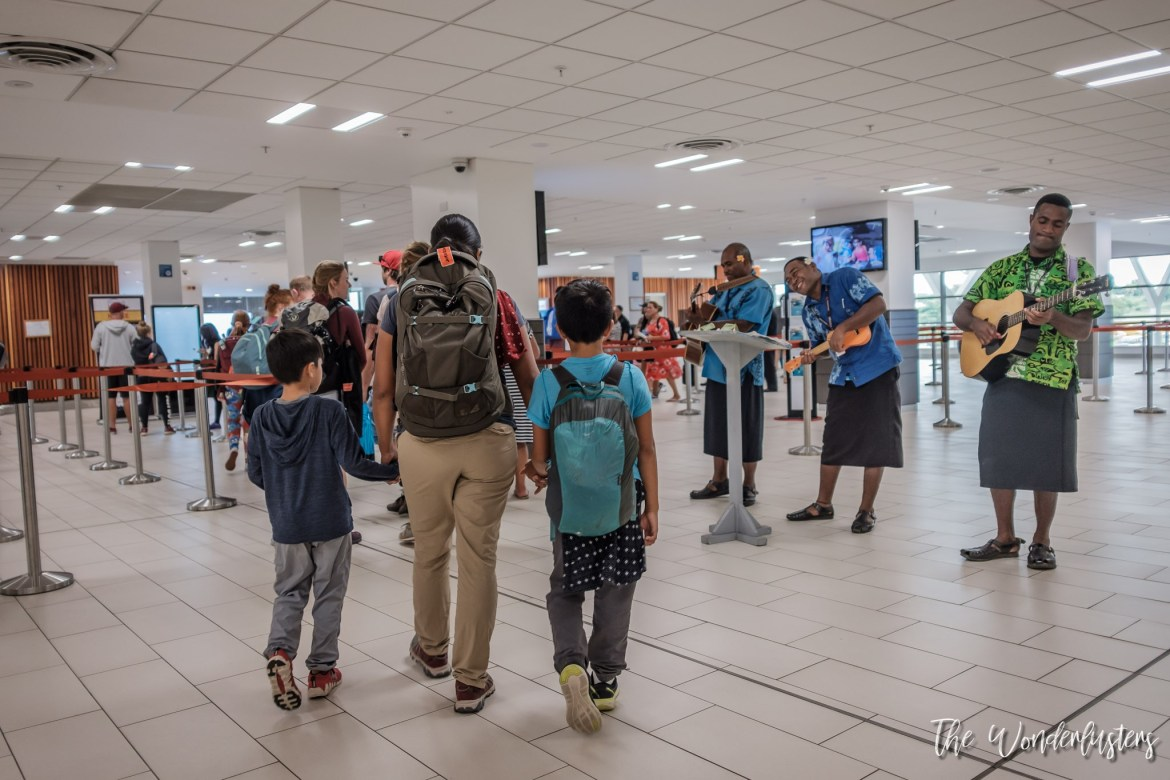 A warm welcome at Nadi airport