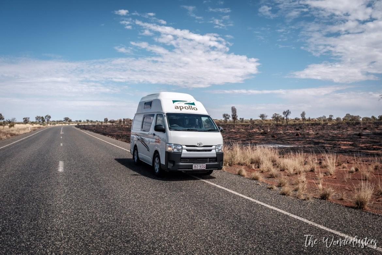 Campervan in Alice Springs