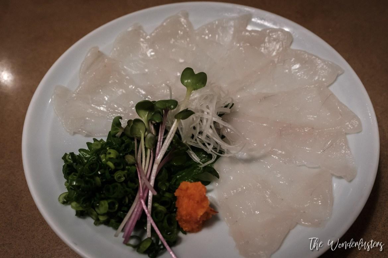 Fugu Sashimi in Kyoto