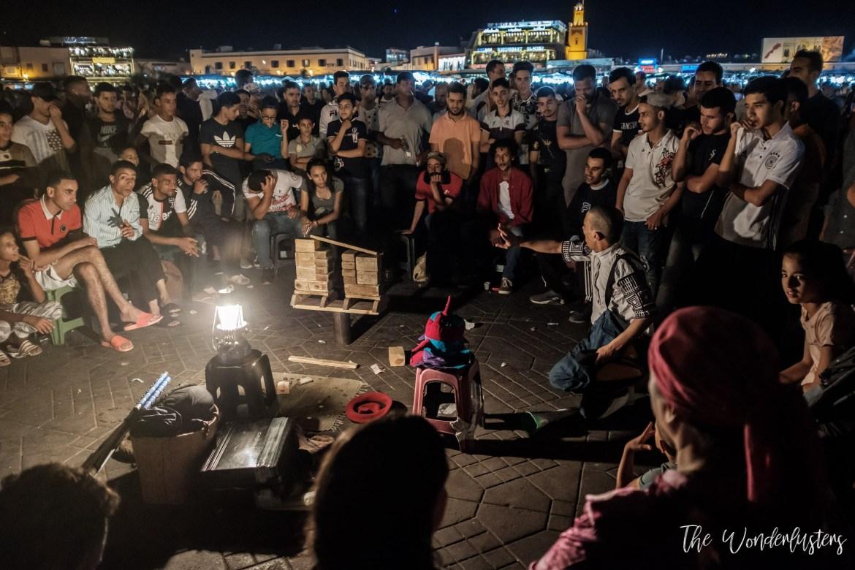 Story Teller at Jemaa el-Fna