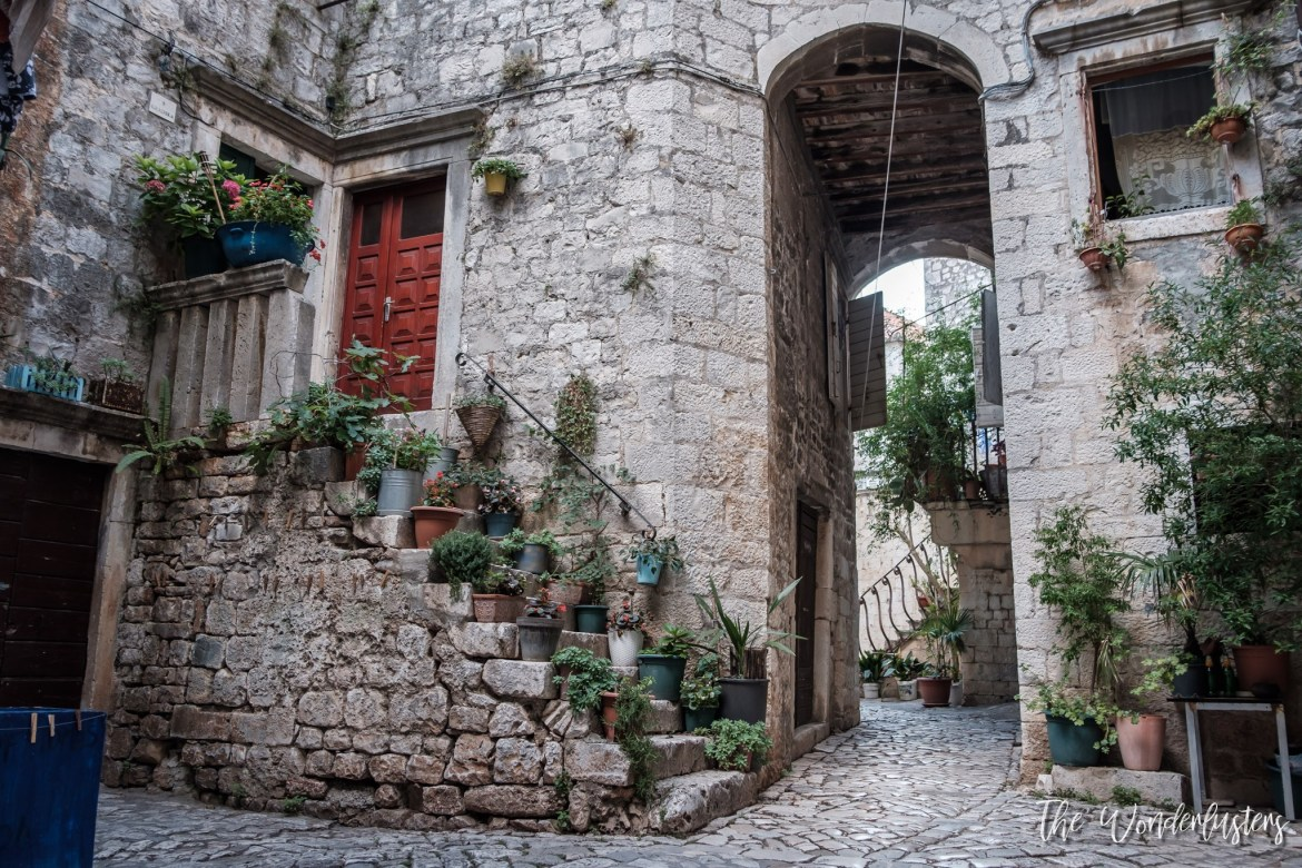 Streets and stairs of Trogir