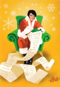 Elvis As Santa Claus Reading The Christmas List In His