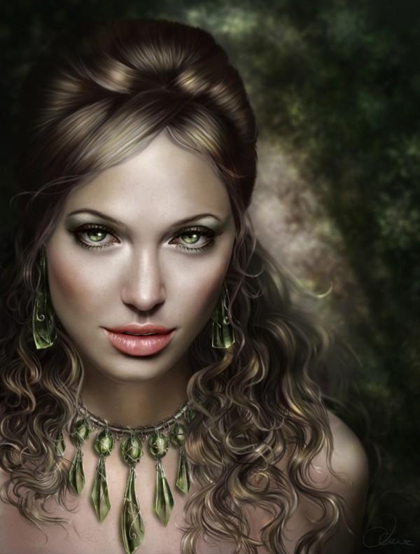 28 Amazingly Beautiful Digital Painting Portraits   The Wondrous Design Magazine