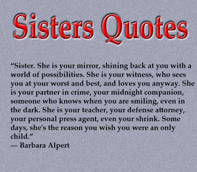 Sister Quotes And Sayings Funny