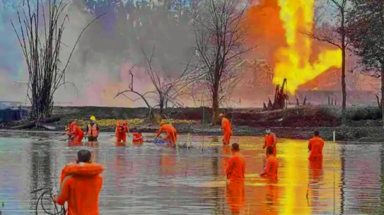 Assam Oil Well Leak
