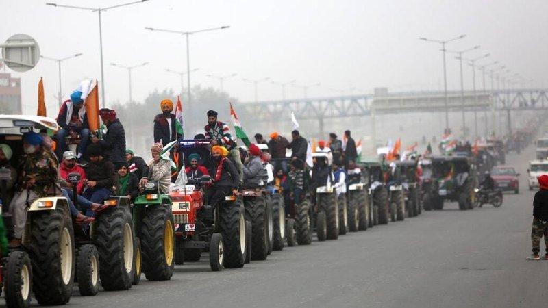 Farmer's tractor rally 2021