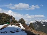 Abhinav taking a hike, literally!