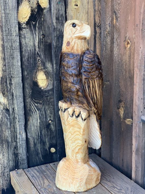Eagle Chainsaw Carving