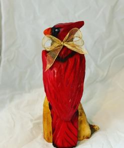 1ft Cardinal Chainsaw Carving