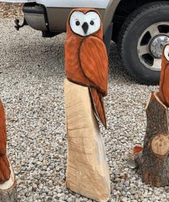 Barn owl statue