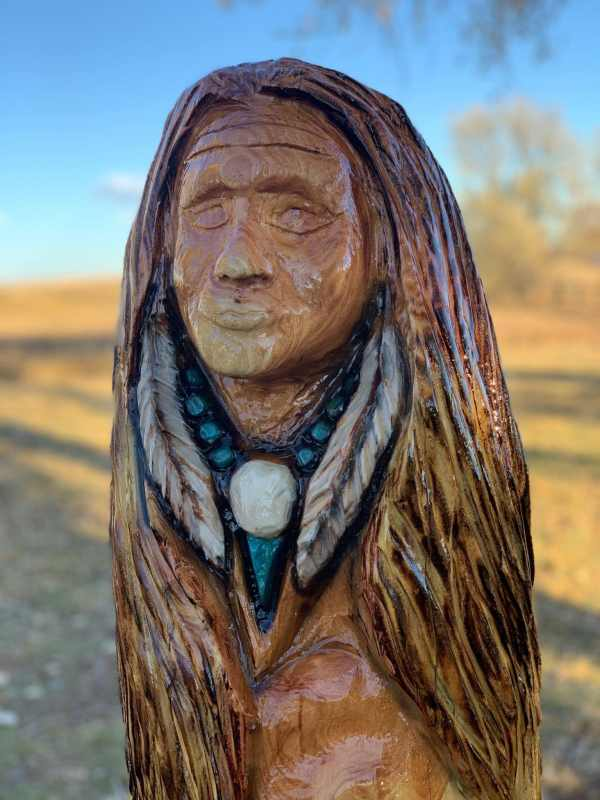 native american chainsaw carving