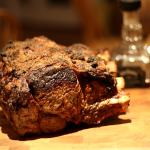 Salt and Pepper Crusted Standing Rib Roast
