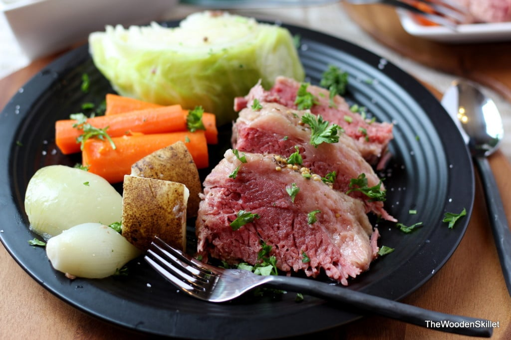 Corned Beef and Cabbage - the perfect meal for St. Patrick's Day! thewoodenskillet.com