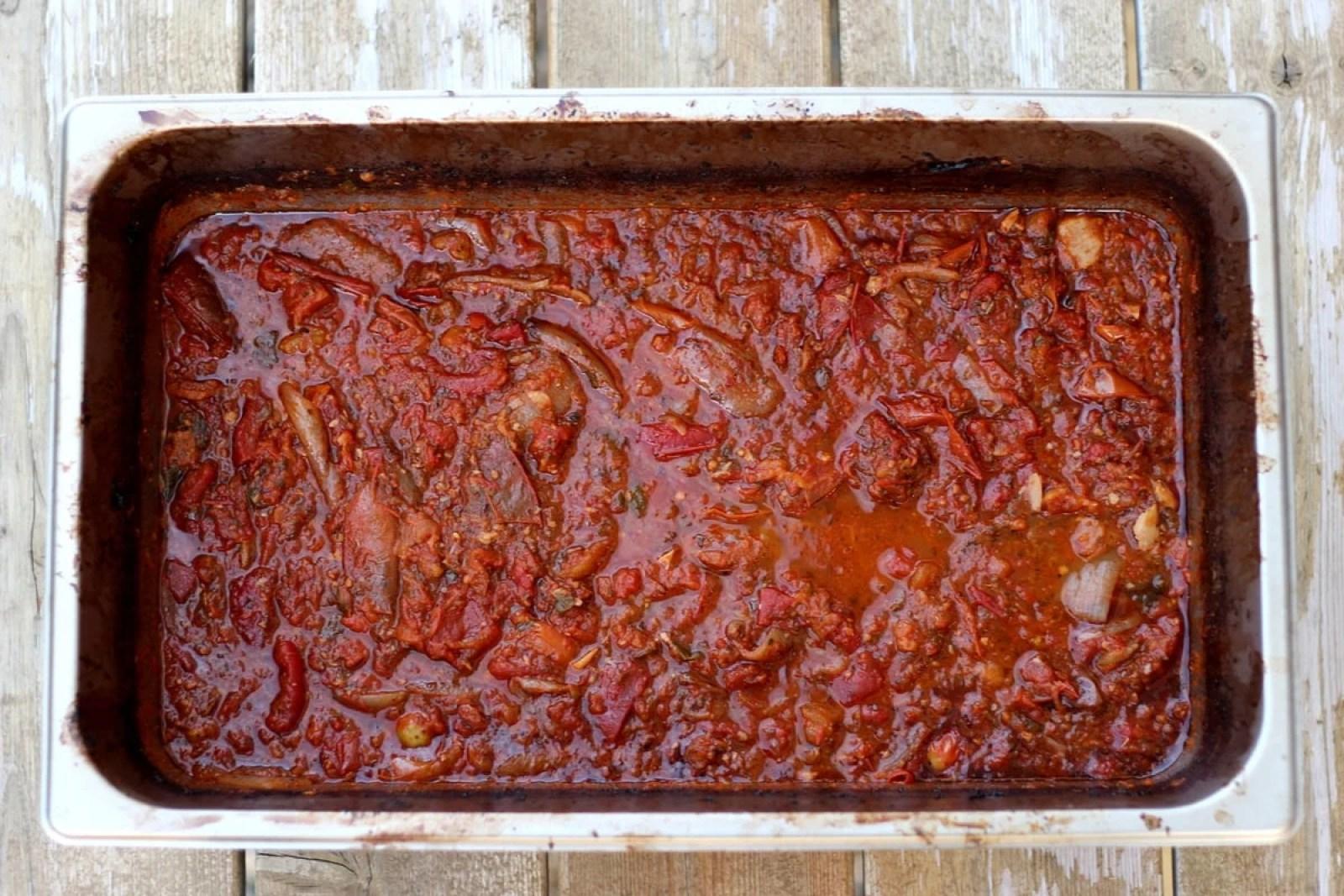 Slow roasted homemade spaghetti sauce thewoodenskillet.com