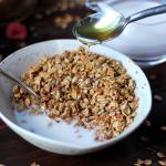 Homemade Flax Granola with Milk + Honey