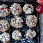 Sweet Glazed Apple Cookies + Oats and Walnuts