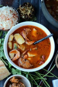 Buttery Brazilian Fish Stew - how to make moqueca. thewoodenskillet.com