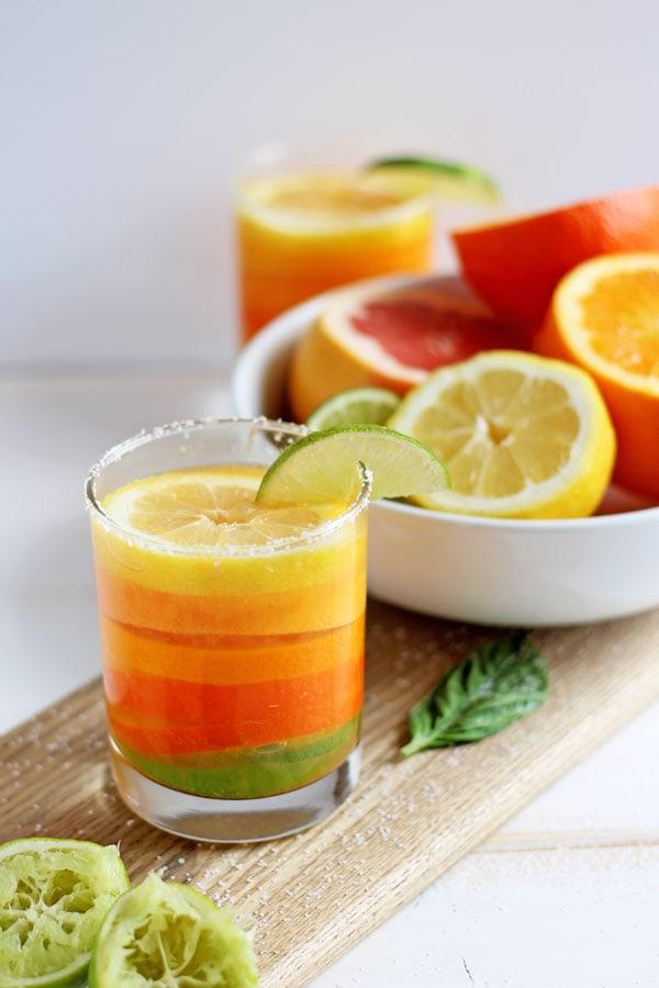 Simple Citrus Basil Margarita