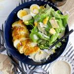 Ghee + Turmeric Chicken Caesar Salad - ready and on your table in 15 minutes. thewoodenskillet.com