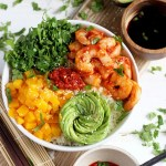 Spicy Shrimp, Mango and Avocado Sushi Bowl
