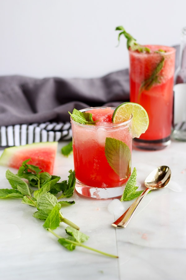 Sweet Watermelon Mint Summer Spritzer - thewoodenskillet.com