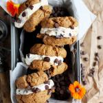 Almond Butter Cookie Ice Cream Sandwiches [dairy-free]