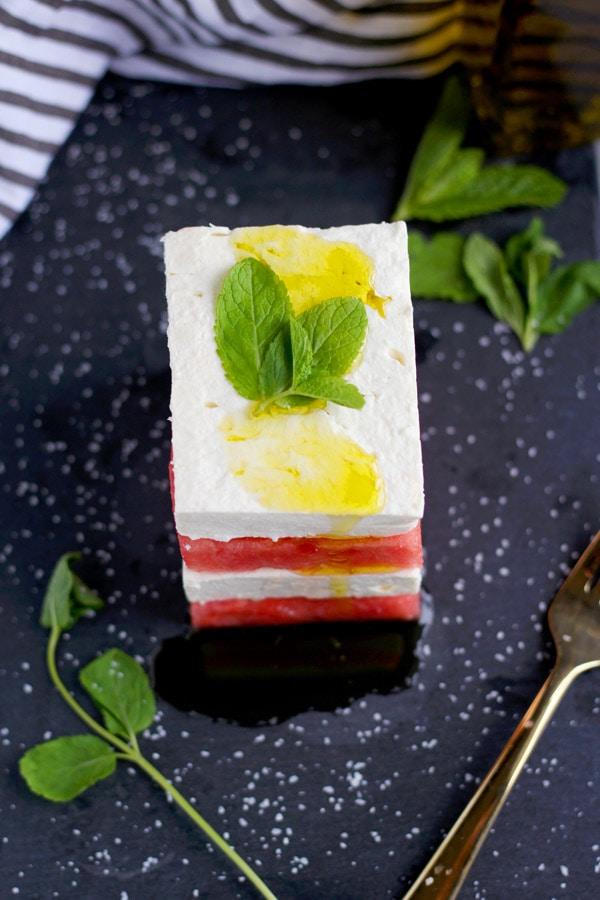 Watermelon + Feta Salad with Mint