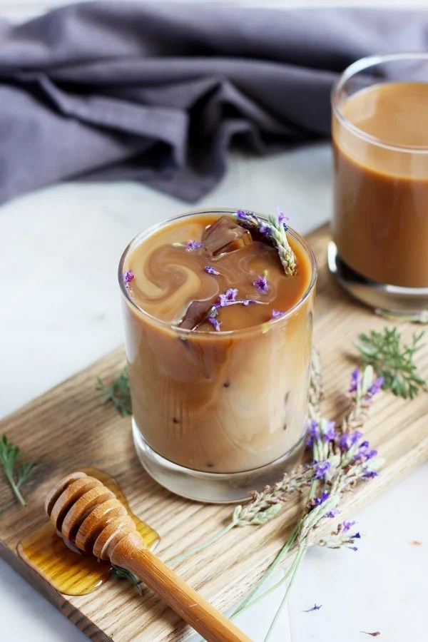 Honey Lavender Cold Brew Latte