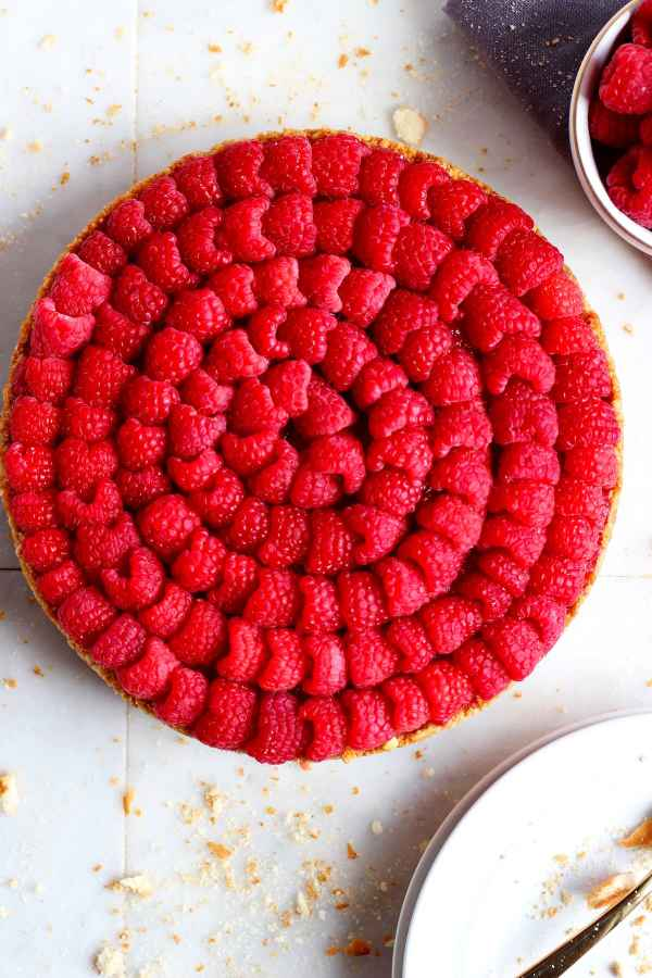 No Bake Raspberry Pie