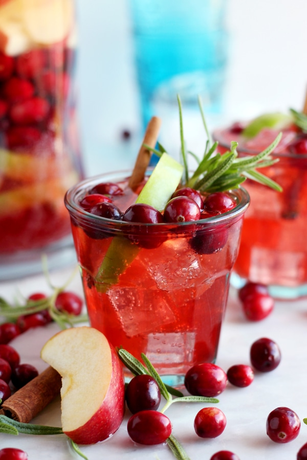 Cranberry Cinnamon Apple Kombucha Mocktail