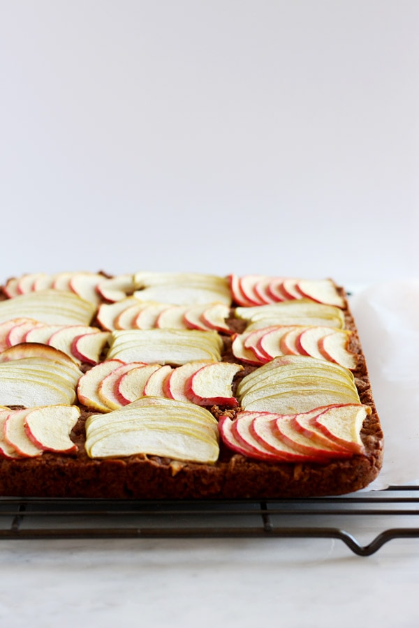 Vegan Apple Walnut Bars - the perfect fall dessert for the holidays! thewoodenskillet.com
