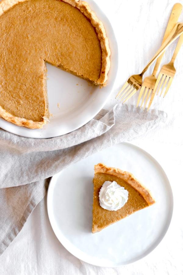 Delicious Dairy Free Pumpkin Pie