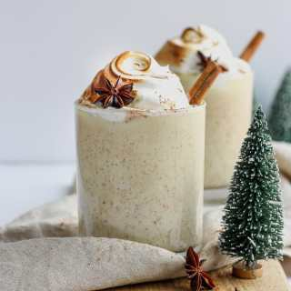 Ultimate Dairy Free Egg Nog - made with coconut milk and almond milk, this dairy free egg nog is the perfect holiday treat! #dairyfree #vegan