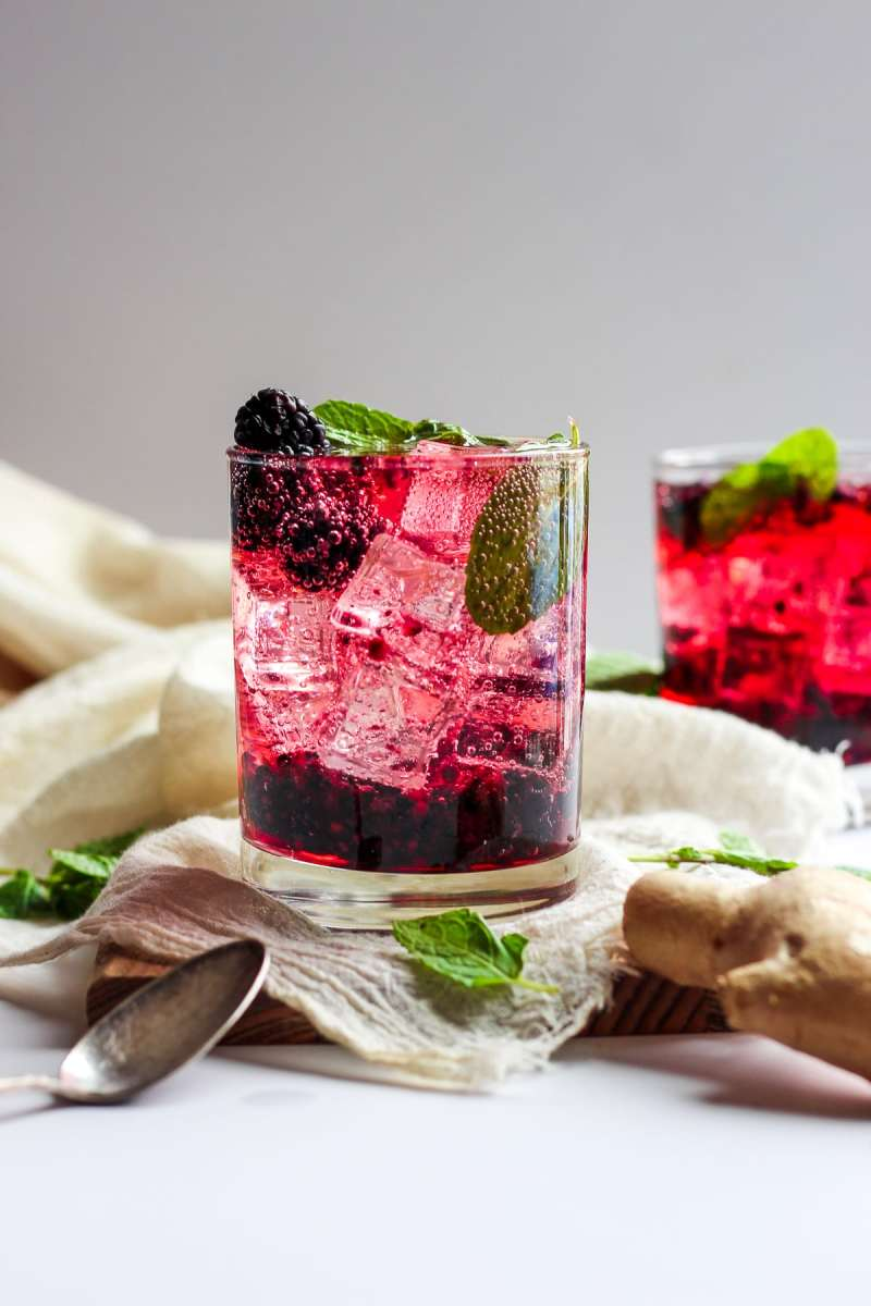 Blackberry Ginger Smash Spritzer