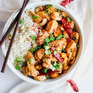 Whole30 Kung Pao Chicken - a delicious and flavorful weeknight dinner! #whole30