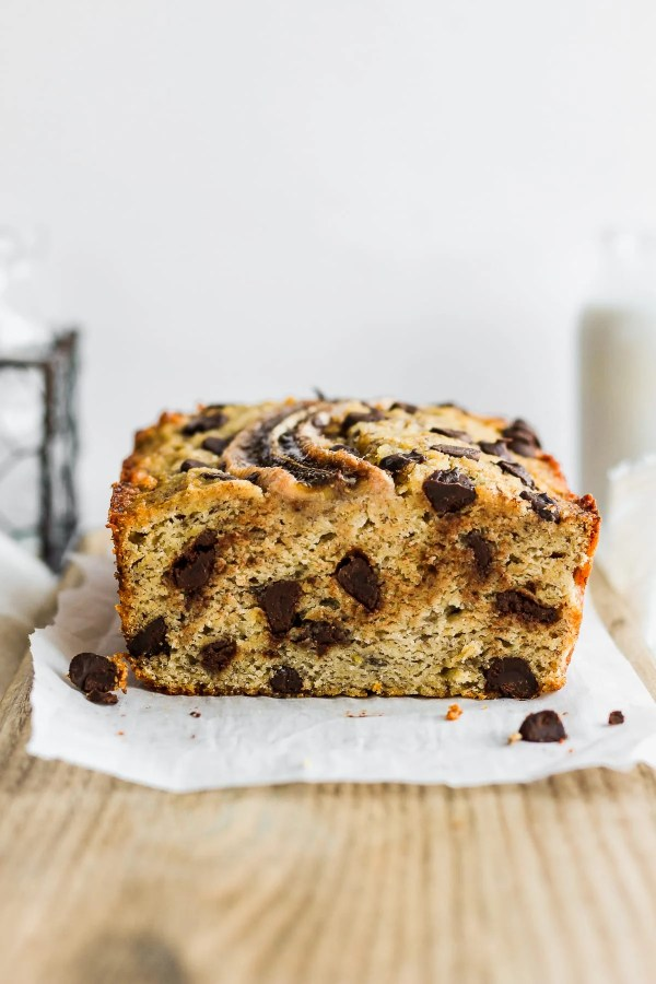 Easy Paleo Chocolate Chip Banana Bread