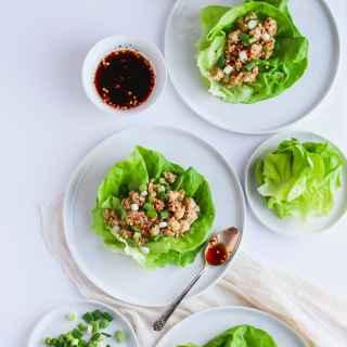 Weeknight Chicken Lettuce Wraps #whole30 #paleo #weeknight
