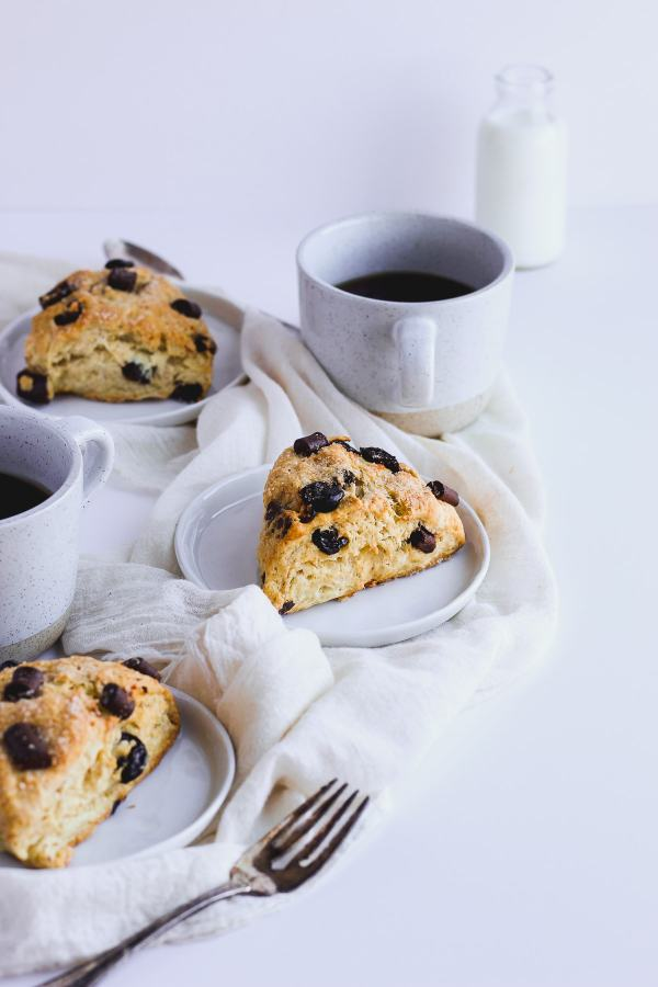 Dairy-Free Chocolate Cherry Scones