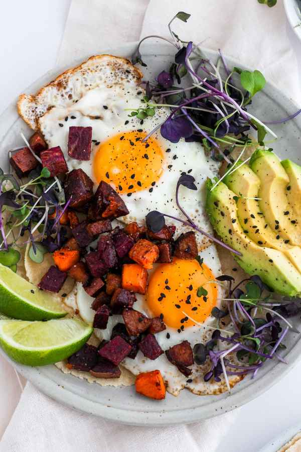 Easy Chorizo Breakfast Hash Tacos