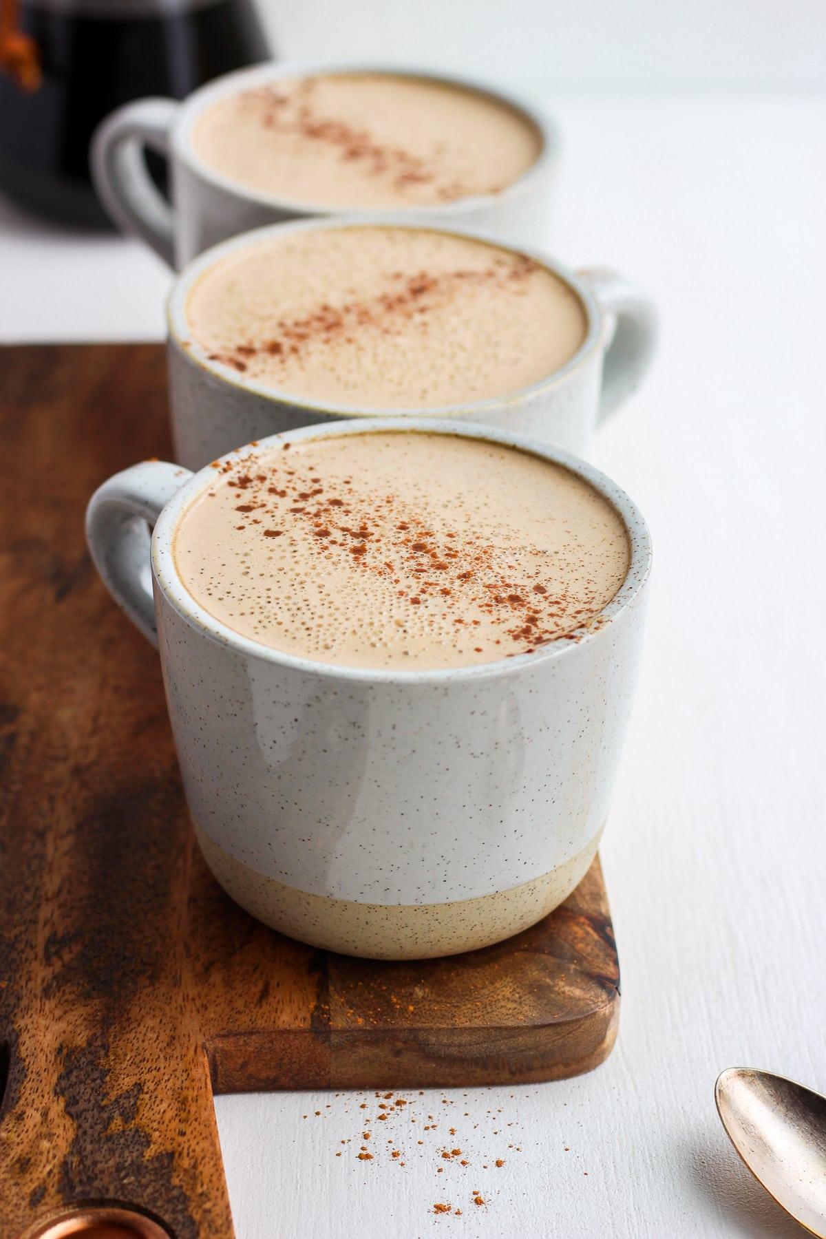 Creamy Cinnamon Cold Brew Cashew Latte - the perfect cup of HOT cold brew with cashew creamer! #whole30 #paleo #coldbrew