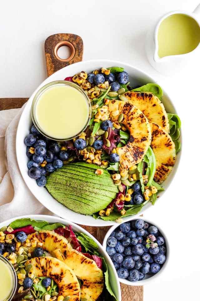 Creamy Citrus Dressing + Seared Pineapple Salad