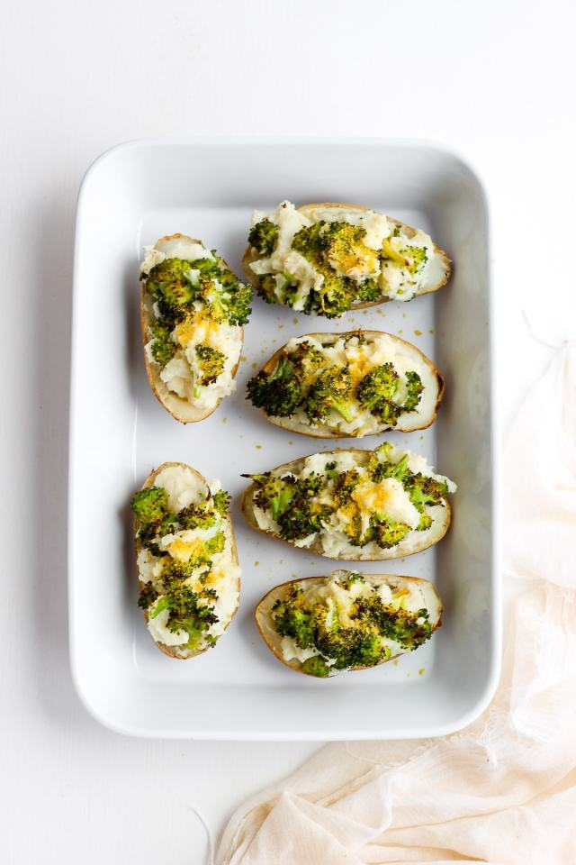 Cheesy Broccoli Twice Baked Potatoes