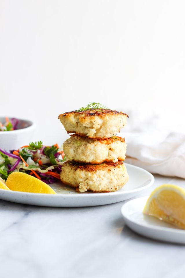 Buttery Pan Seared Cod Cakes