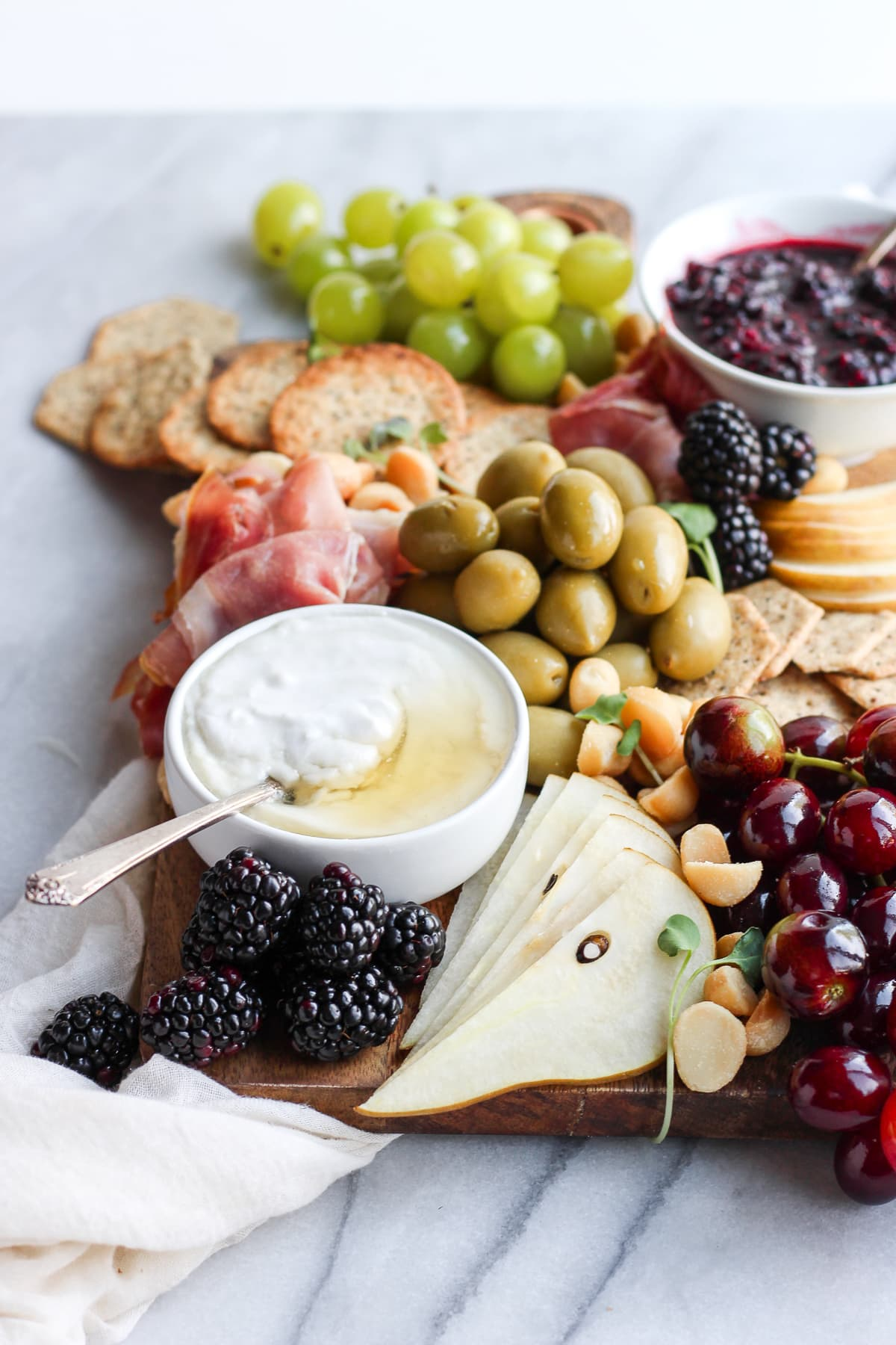 Healthy Grain-Free/Gluten-Free Charcuterie Board - a light and delicious appetizer or light dinner! #glutenfree #cheeseboard #charcuterie #grainfree