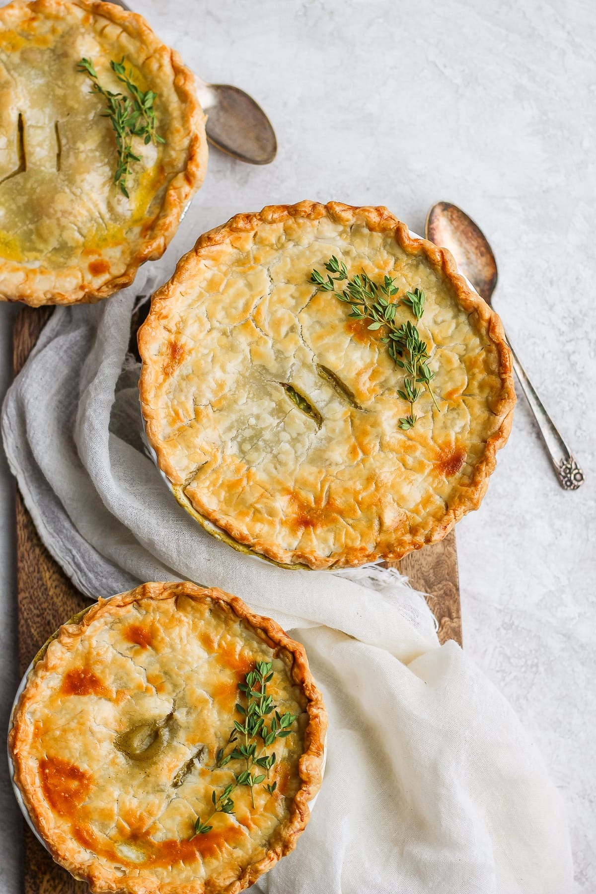 Creamy Fall Harvest Dairy-Free Veggie Pot Pies - warm and comforting pot pies that are dairy-free! #dairyfree #potpie #fallrecipes