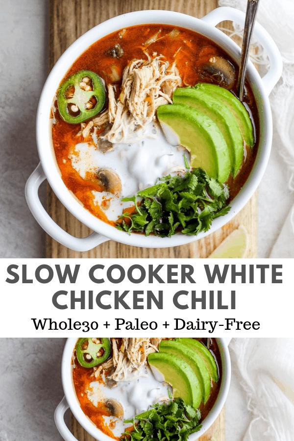 slow cooker white chicken chili