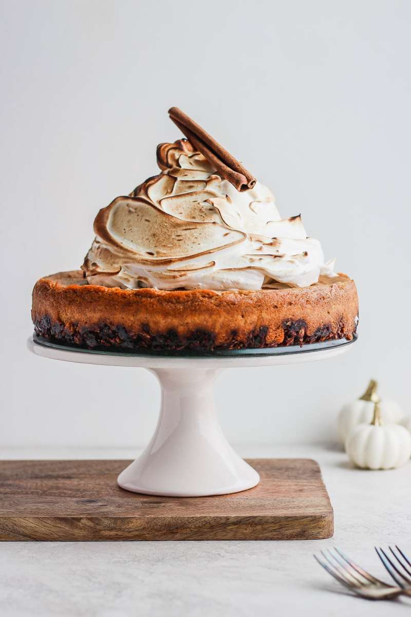 Creamy Baked Vegan Pumpkin Pie Cheesecake