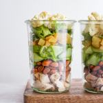 Paleo Roasted Cauliflower Mason Jar Salad (Dairy-Free + Vegan-Friendly)