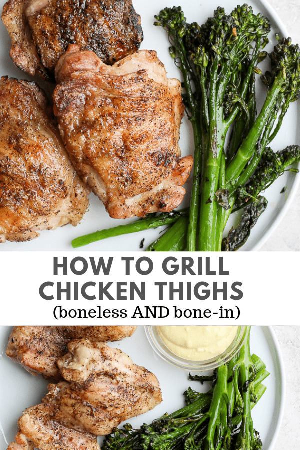 how to grill chicken thighs