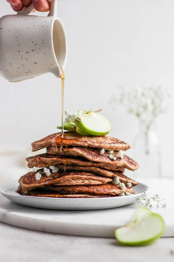 Healthy Apple Pancakes Gluten Free Dairy Free The Wooden Skillet